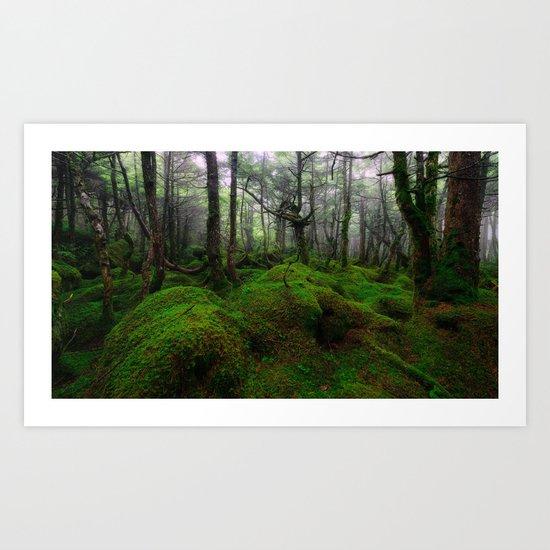 Enchanted forest mood III Art Print
