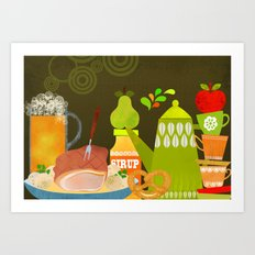 Autumn food Art Print