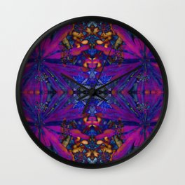 Hopi dream geometry II Wall Clock