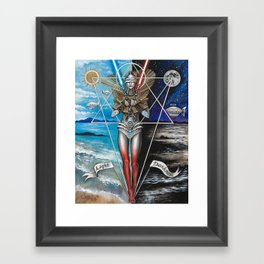 Eclipse 2 - Balance of 2 Swords Framed Art Print