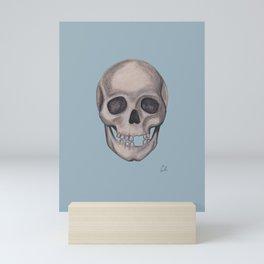 Mr. Smiles - Skull Portraiture Mini Art Print
