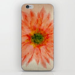 salmon flower iPhone Skin
