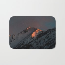 Early Morning Mountain Sunrise Bath Mat