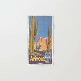 Vintage poster - Arizona Hand & Bath Towel