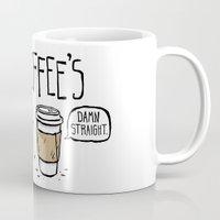 bitch Mugs featuring Coffee's Bitch by Fowl Language Comics
