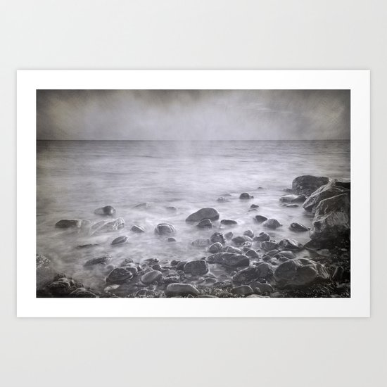 """Black sea rocks"" Art Print"