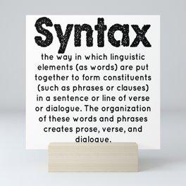 Syntax Mini Art Print