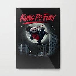 Kung po Fury Metal Print