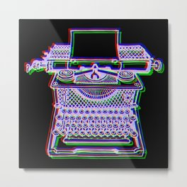 typewriter tricolour projection Metal Print