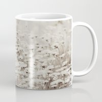 bane Mugs featuring Bane of Fleas Sepia by V. Sanderson / Chickens in the Trees