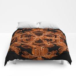 Orange Sexy Snow Comforters
