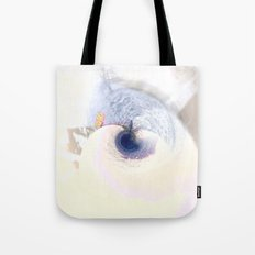 meeting on the blue planet Tote Bag