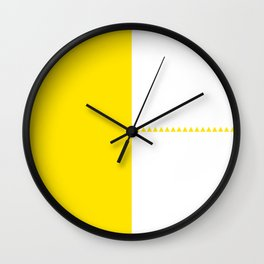 Scandi style yellow geometric design Wall Clock