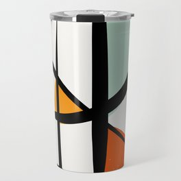 Abstract Minimal Lyrical Expressionism Art Blue Orange Travel Mug