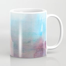 Abstract elegant watercolor art in blue and purple colors Coffee Mug