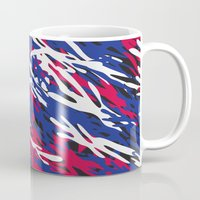 patriotic Mugs featuring Patriotic Camouflage by Stacey Lynn Payne