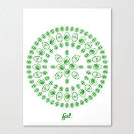 Kiwi & Avocado • Mandala Canvas Print
