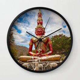 Thiti Sutto Temple Buddha Thailand Wall Clock