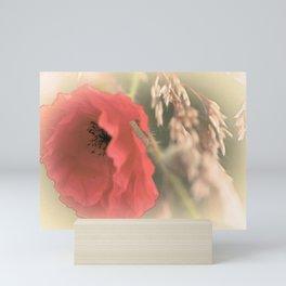 Poppies silken Mini Art Print
