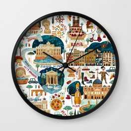 Rome map Wall Clock