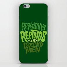 Reptilians, Reptoids, Lizard Men iPhone & iPod Skin