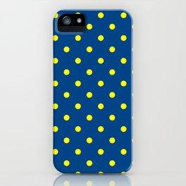 Maize & Blue Polka Dots iPhone Case