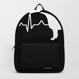 American Pit Bull Terrier Heartbeat Pulse EKG Backpack