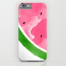 Watermelon Watercolor iPhone Case