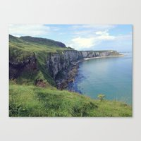 irish Canvas Prints featuring Irish Coast  by Nadia Bonello - Trū Artwear