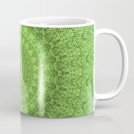 Sunflower Feather Bohemian Leaf Pattern \\ Aesthetic Vintage \\ Green Teal Aqua Color Scheme Coffee Mug