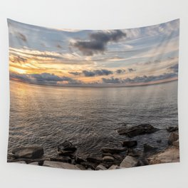 Sunset over the Ocean 7-21-18 Wall Tapestry