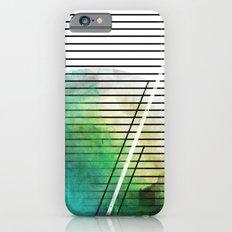 MINIMAL STRIPES SEA GREEN PAINT iPhone 6 Slim Case
