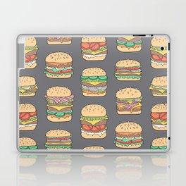 Hamburgers Junk Food Fast food on Dark Grey Laptop & iPad Skin