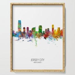 Jersey City New Jersey Skyline Serving Tray