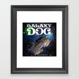 Galaxy Dog Framed Art Print