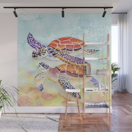 Swimming Together - Sea Turtle Wall Mural