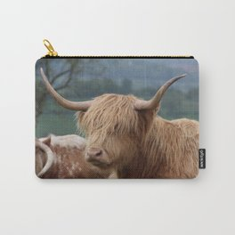 Portrait of Highland Cattle Carry-All Pouch