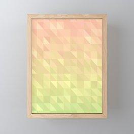Pink and Green - Flipped Framed Mini Art Print