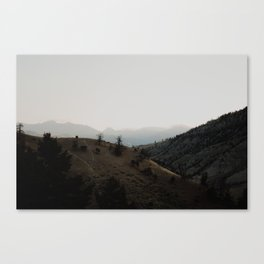 layers of the land - yellowstone Canvas Print