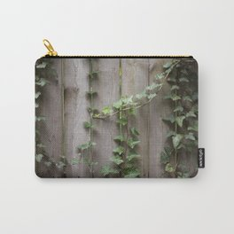 Vines on Wooden Fence Carry-All Pouch