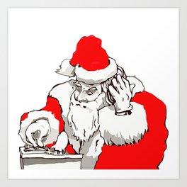Merry Christmas DJ Santa Nonstop Remix Art Print