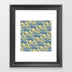 Vanilla flowers Framed Art Print