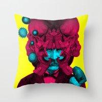 predator Throw Pillows featuring PREDATOR by DIVIDUS