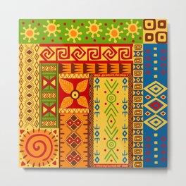 African Symbol Pattern Metal Print