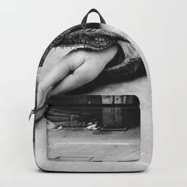 Helmut Newton, Crocodile, Wuppertal, 1983 Society6 Art Online Priceless Photography Backpack