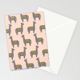 Llama Momma on Peach Stationery Cards