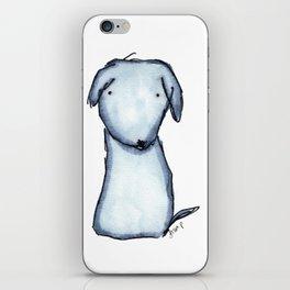 Puppy Blue iPhone Skin