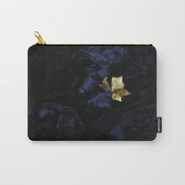 Gold Leaf On Blue Water Carry-All Pouch
