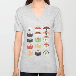 Sushi Japanese Food Unisex V-Neck