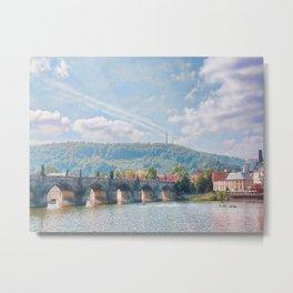 River View Metal Print